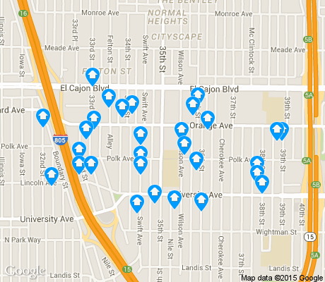map of Corridor apartments for rent