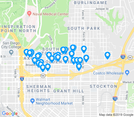 map of Golden Hill apartments for rent