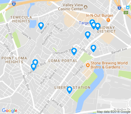 map of Loma Portal apartments for rent