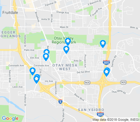 map of Otay Mesa West apartments for rent
