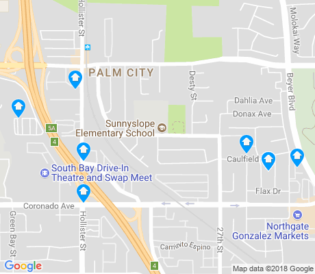 map of Palm City apartments for rent