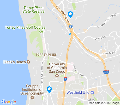 map of Torrey Pines apartments for rent