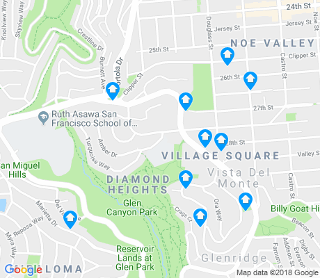 map of Diamond Heights apartments for rent