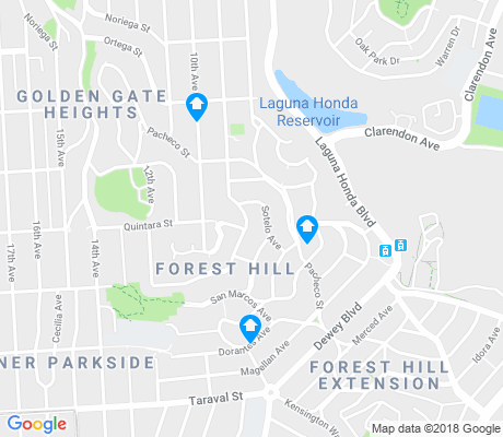 map of Forest Hill apartments for rent
