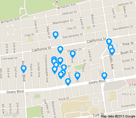 map of Jordan Park / Laurel Heights apartments for rent