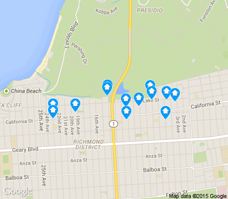 map of Lake apartments for rent