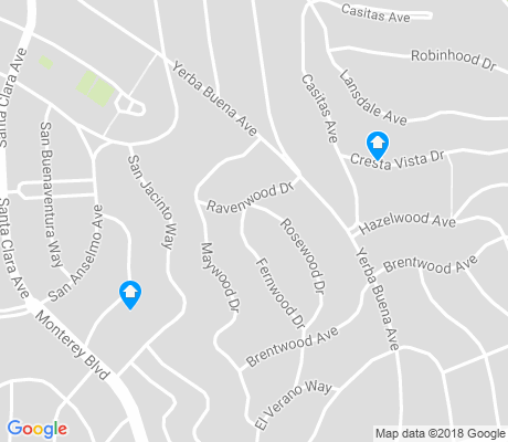 map of Monterey Heights apartments for rent