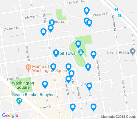map of Telegraph Hill apartments for rent