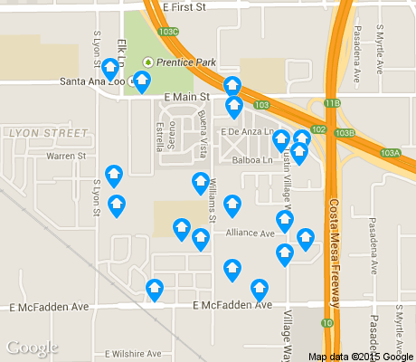 map of Lyon Street apartments for rent