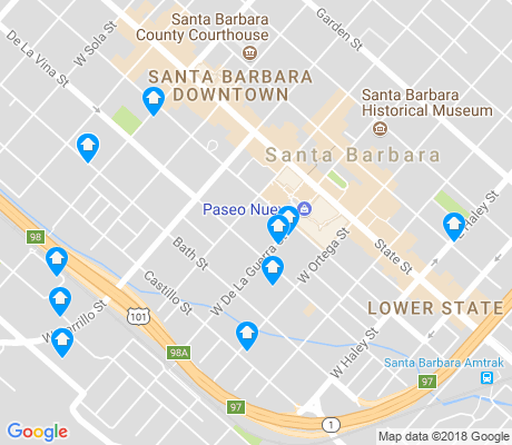 map of West Downtown apartments for rent