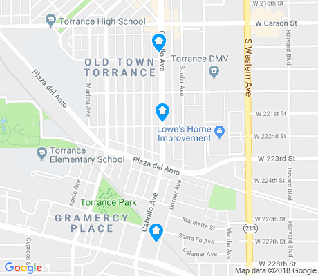 map of Olde Torrance apartments for rent