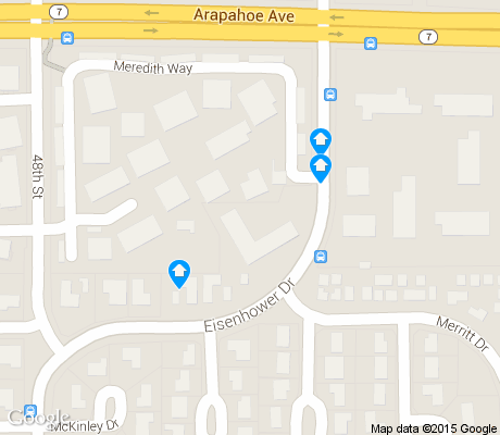 map of East Foothills apartments for rent