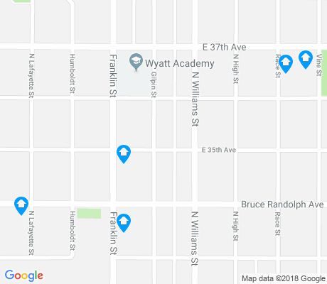 map of Cole apartments for rent