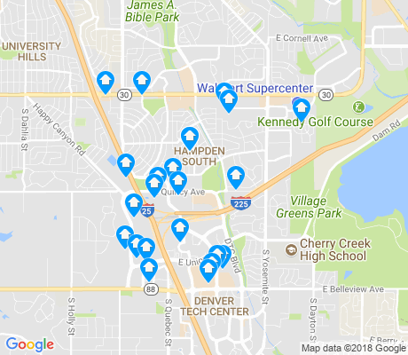 map of Hampden South apartments for rent