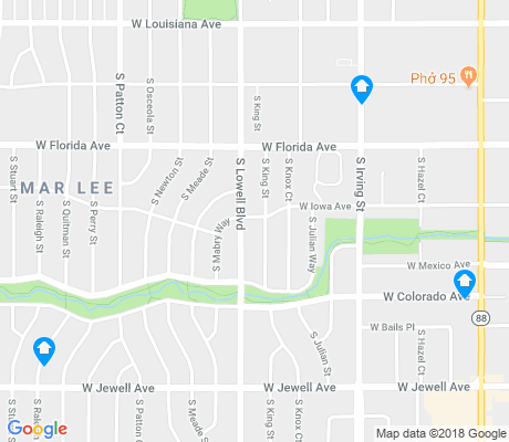 map of Mar Lee apartments for rent