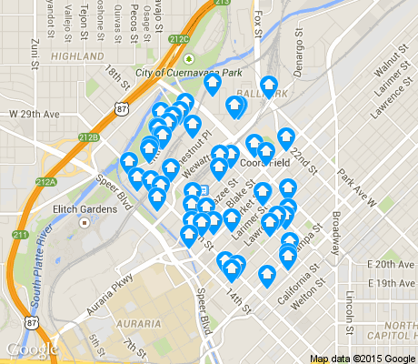 map of Union Station apartments for rent