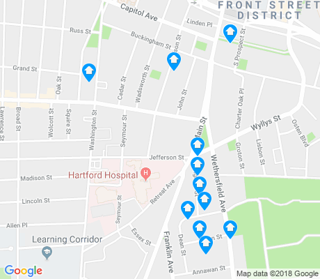 map of South Green apartments for rent
