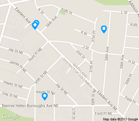 map of Burrville apartments for rent