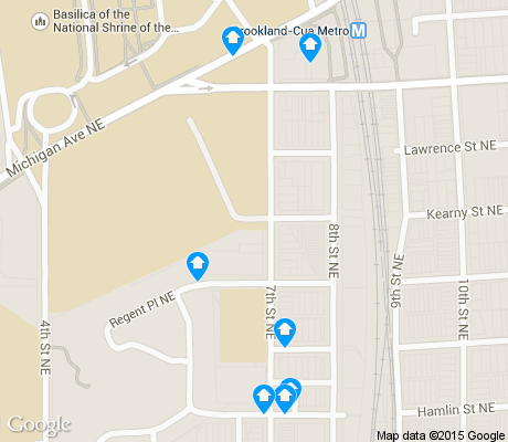 map of Stronghold apartments for rent