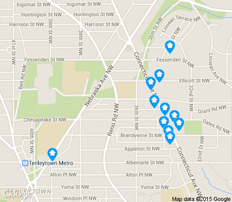 map of Wakefield apartments for rent