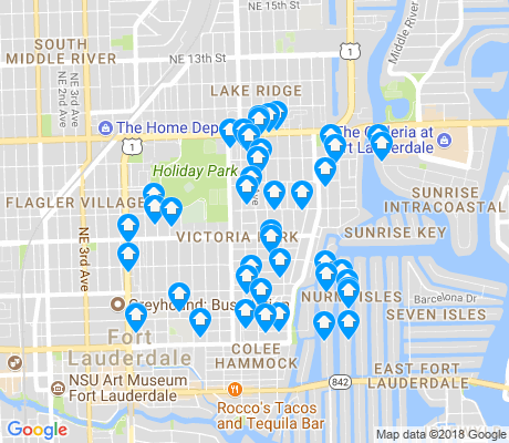 map of Victoria Park apartments for rent