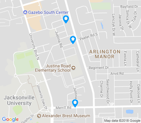 map of Arlington Manor apartments for rent