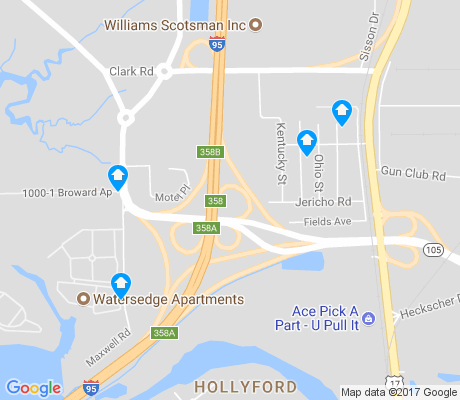 map of Hollyford apartments for rent