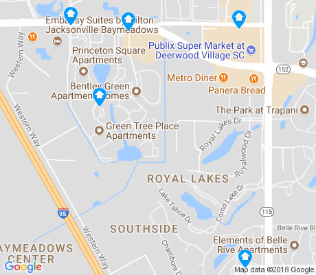 map of Royal Lakes apartments for rent