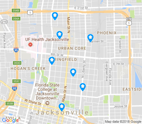 map of Springfield apartments for rent