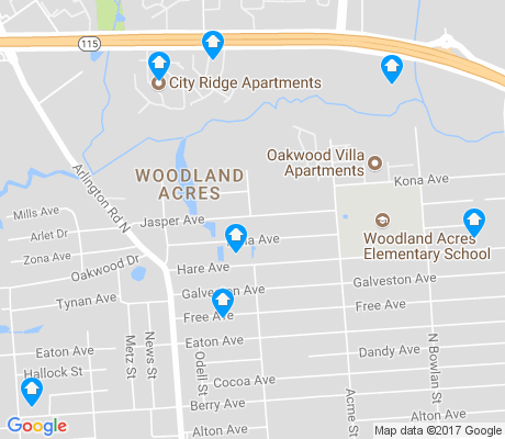 map of Woodland Acres apartments for rent