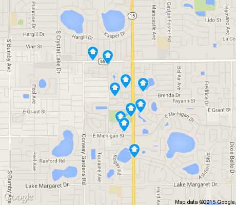 map of Conway apartments for rent