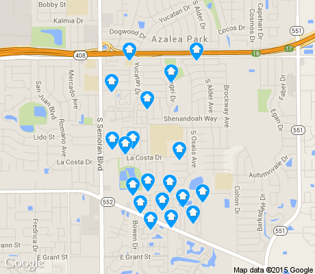 map of Englewood Park apartments for rent