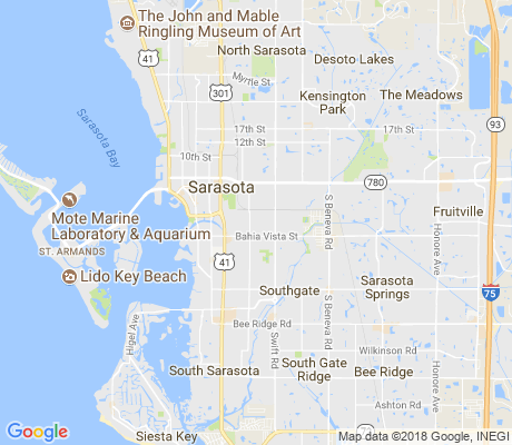 map of Alta Vista apartments for rent