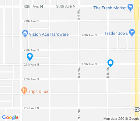 map of Crescent Heights apartments for rent