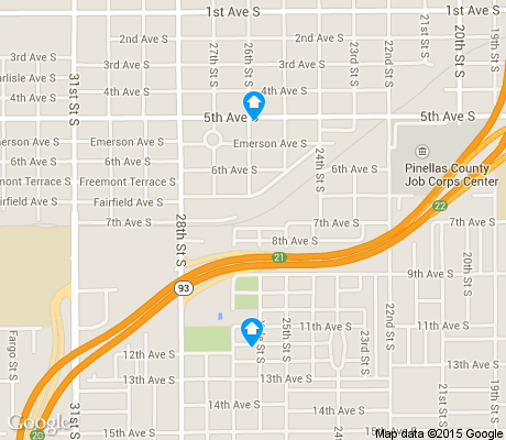 map of Palmetto Park apartments for rent