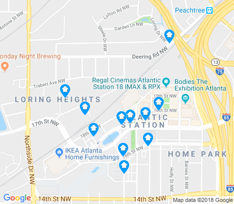 map of Atlantic Station apartments for rent