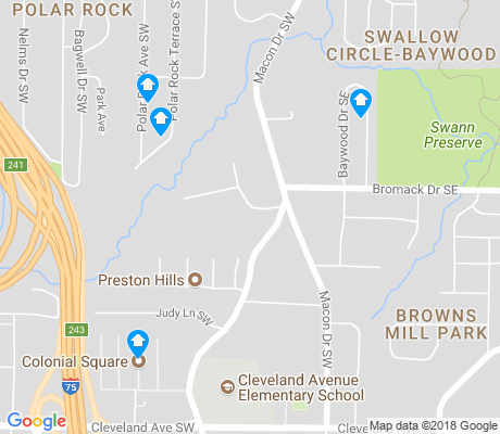 map of Browns Mill Park apartments for rent