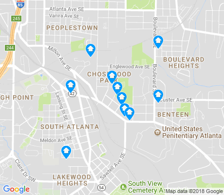 map of Chosewood Park apartments for rent