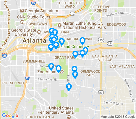 map of Grant Park apartments for rent