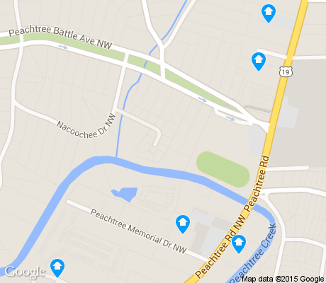map of Peachtree Battle Alliance apartments for rent
