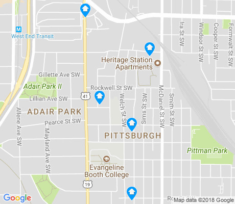 map of Pittsburgh apartments for rent