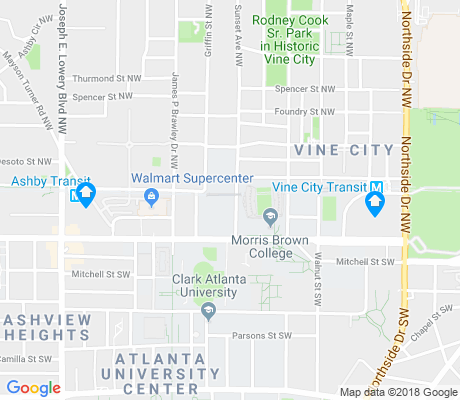 map of Vine City apartments for rent