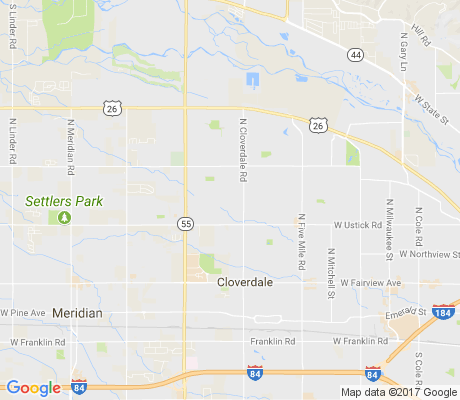 map of West Cloverdale apartments for rent