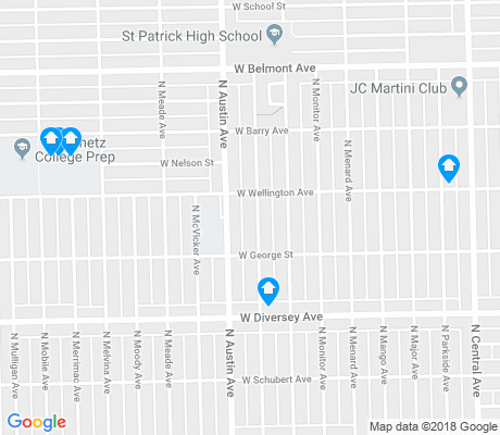 map of Belmont Central apartments for rent