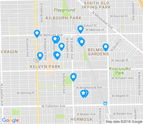 map of Belmont Gardens apartments for rent