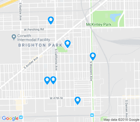 map of Brighton Park apartments for rent