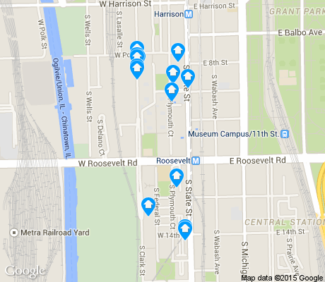 map of Dearborn Park apartments for rent