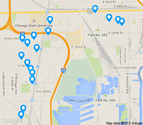 map of Lake Calumet apartments for rent