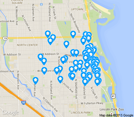 map of Lake View apartments for rent