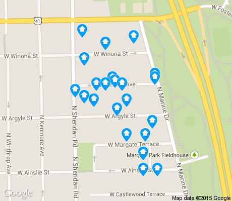 map of Margate Park apartments for rent